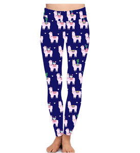 Natopia Deluxe Llama Love Leggings One Size Fits 8-14