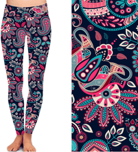 Natopia Deluxe Patterns of Paisley Leggings One Size Fits 8-14