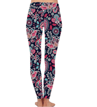 Natopia Deluxe Patterns of Paisley Leggings Curvy Plus Size Fits 16-20