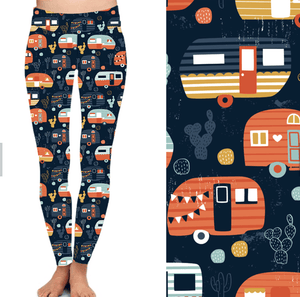 Natopia Cacti and Caravans Leggings Kids 4-6