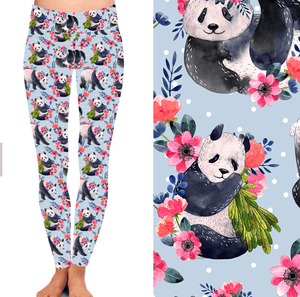 Natopia Panda Perfection Leggings One Size Fits 8-14