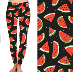 Natopia Slices of Watermelon Leggings One Size Fits 8-14