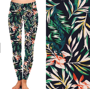 Natopia Tropical Feels Leggings Plus Size Fits 16-22