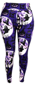 Natopia Ultimate The Haunted House Extra Curvy Plus Size Leggings Size 22-28