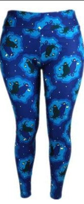 Natopia Ultimate Twilight Ghosts Leggings Curvy Plus Size Fits Size 16-22