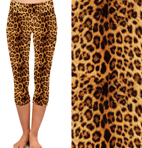 Natopia Deluxe In The Jungle Capri Leggings One Size Fits 8-14