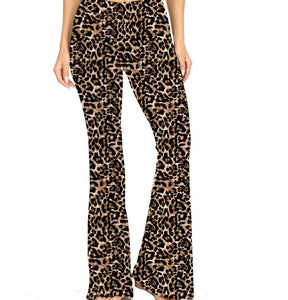 Natopia Deluxe Leopard Print Bell Bottoms Plus Size Fits 16-20