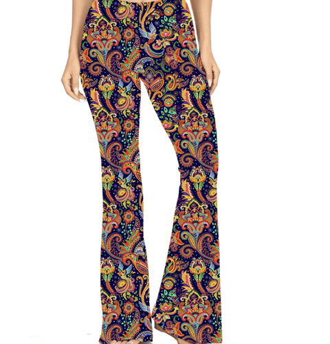 Natopia Deluxe Paisley Bird Bell Bottoms One Size Fits 8-14