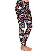 Natopia Deluxe Peace Love and Rainbows Leggings Plus Size Fits 16-20