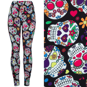 Colour Skull Deluxe Leggings - natopia