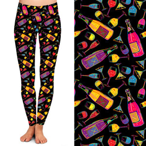 Natopia Deluxe Wine Time Leggings One Size Fits 8-14