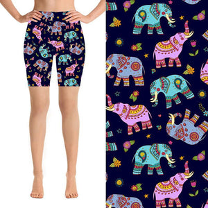 Natopia Deluxe Elephant Dance Shorts Extra Curvy Fits 22-26