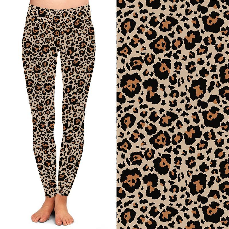 Natopia Deluxe Earth Leopard Leggings Curvy Plus Size Fits 16-20