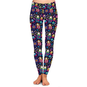Natopia Deluxe Babushka Bliss Leggings Curvy Plus Size Fits 16-20
