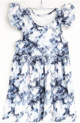 Natopia Butterfly Storm Flutter Sleeve Dress Kids Medium (6-8 Years)