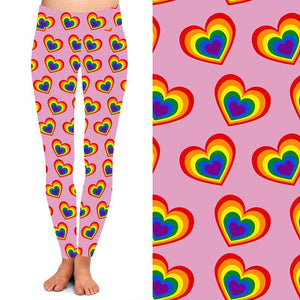 Natopia Deluxe Candy Hearts Leggings One Size Fits 8-14