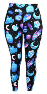 Natopia Ultimate Crystals and Potions Extra Curvy Plus Size Leggings Size 22-28