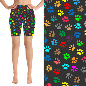 Natopia Deluxe Rainbow Paws Shorts One Size Fits 8-14 - natopia
