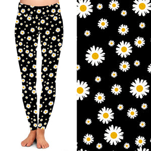 Natopia Deluxe Whoops a Daisy Leggings Curvy Plus Size Fits 16-20