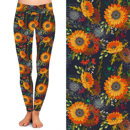 Natopia Deluxe Blanket Flower Leggings Plus Size Fits 16-20