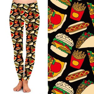 Friday Night Takeout Deluxe Leggings - natopia
