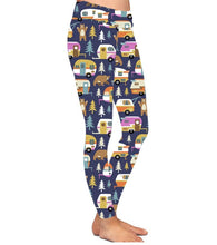 Natopia Deluxe Does a Bear Camp in the Woods Leggings Plus Size Fits 16-20