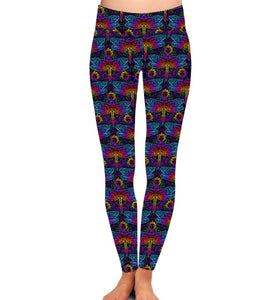 Natopia Deluxe Psychedelic Dragonfly Leggings One Size Fits Size 8-14