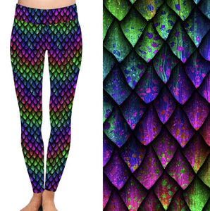 Natopia Deluxe Dragon Scales Leggings One Size Fits 8-14