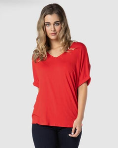 Grenada Tee by Betty Basics In Chilli - natopia
