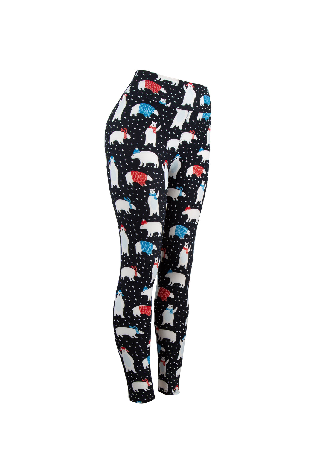 Natopia Polar Bear Christmas Leggings Curvy Plus Size Fits 16-22 LIMITED STOCK AVAILABLE
