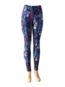 Natopia Deluxe Dreamcatcher Leggings One Size Fits 8-14 Exclusive Print