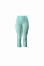 Natopia Plain Colour Spearmint Capri 3/4 Leggings Yoga Waist One Size Fits 8-14