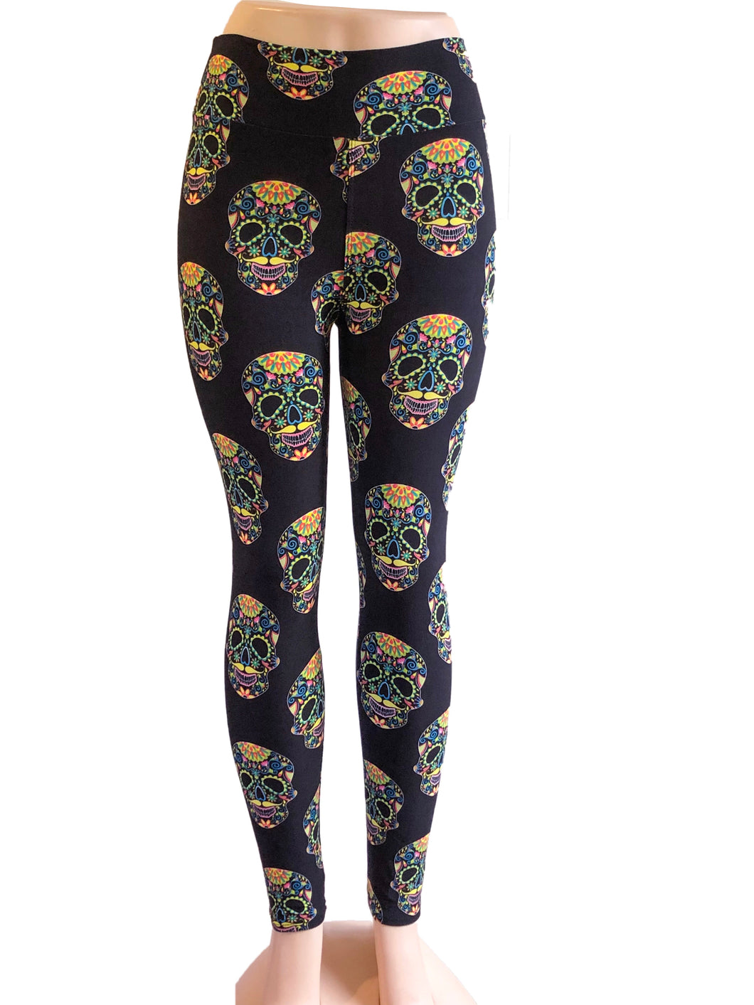 Natopia Psychedelic Skull Leggings Curvy Plus Size Fits 16-22