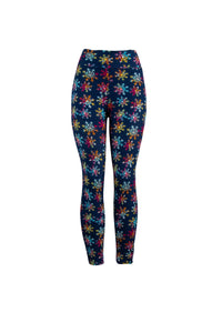 Natopia The Brightest Snowflake Christmas Leggings One Size Fits 8-14 LIMITED QUANTITES AVAILABLE