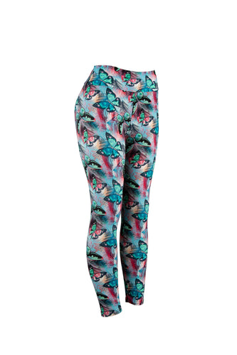 Natopia Butterfly Party Leggings Extra Curvy Plus Size Fits 22-28