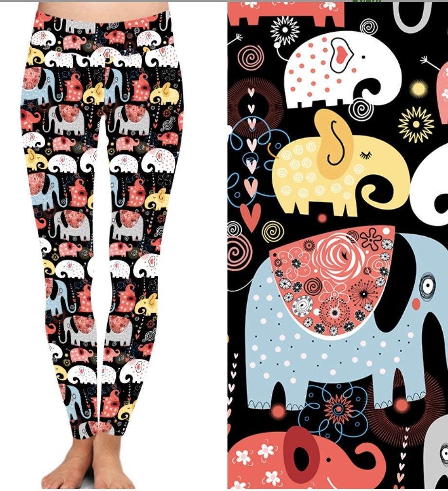 Natopia Deluxe Elephant Joy Leggings One Size Fits 8-14