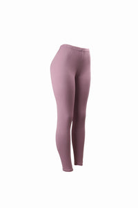 Natopia Plain Colour Lilac Leggings Elastic Waist One Size Fits 8-14