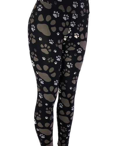 Natopia Muddy Paws Leggings Extra Curvy Plus Size Fits Size 22-28