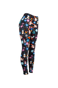 Natopia Santa and the Snowman Christmas Leggings Curvy Plus Size Fits 16-22 LIMITED STOCK AVAILABLE