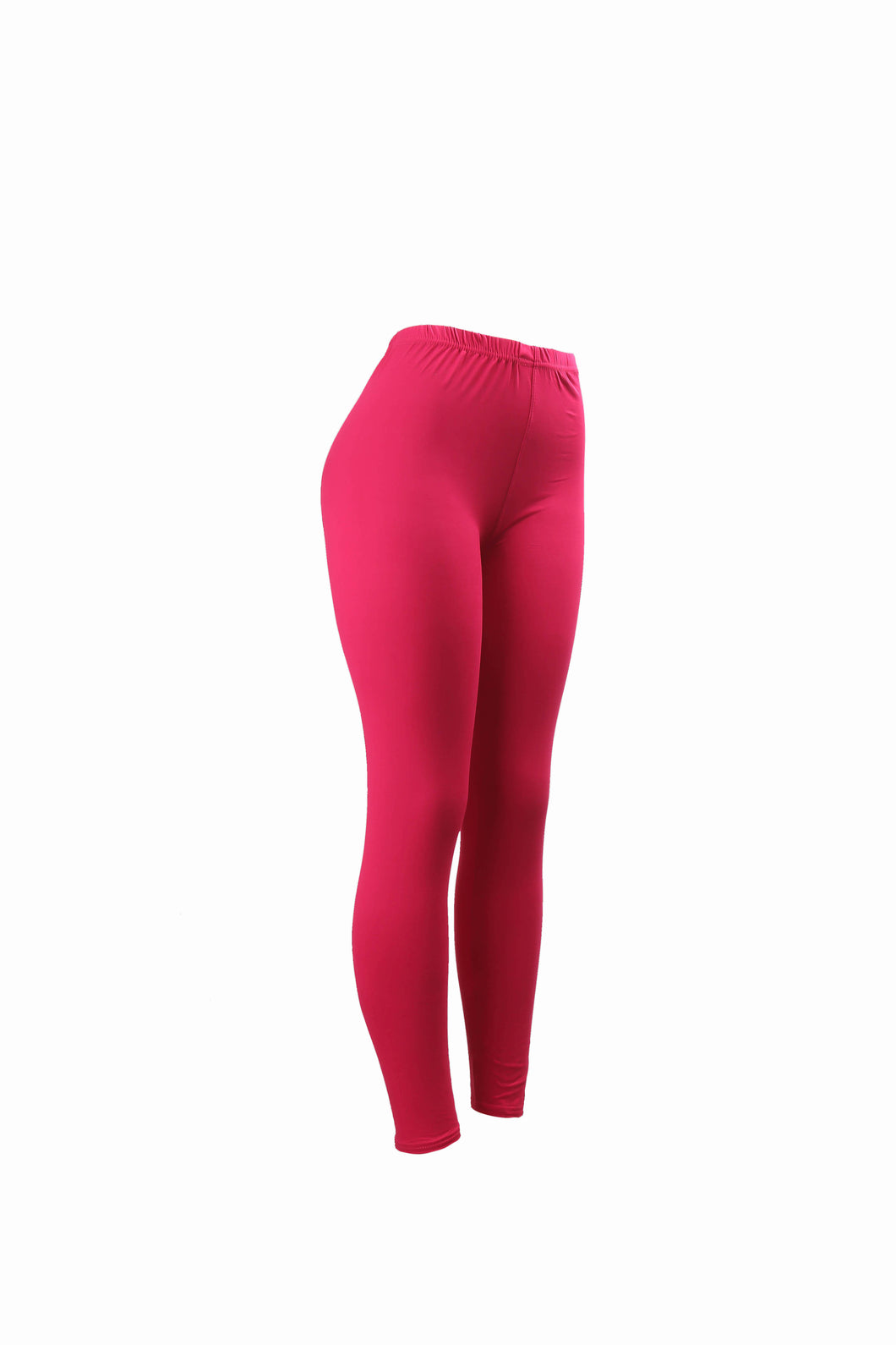 Natopia Plain Colour Fuschia Leggings Elastic Waist One Size Fits 8-14