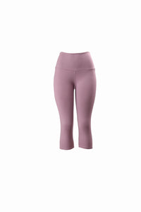 Natopia Plain Colour Lilac Capri 3/4 Leggings Wide Yoga Waist One Size Fits 8-14