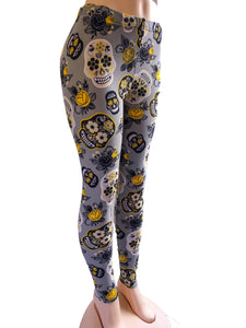 Natopia Kids Grey Skull Leggings Sizes 4-6