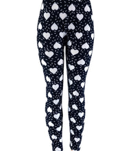 Natopia White Hearted Leggings One Size Fits Size 8-14