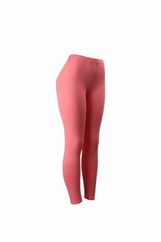 Natopia Plain Colour Peach Leggings Elastic Waist One Size Fits 8-14