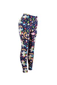 Natopia Unicorns and Ice Cream Leggings Curvy Plus Size Fits 16-22