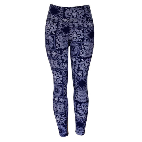 Natopia Blue Bandana Leggings One Size fits Size 8-14