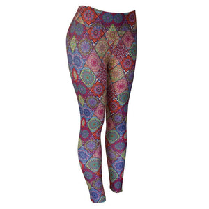 Natopia Exclusive Print La Mandala Leggings Curvy Plus Size Fits Size 16-22