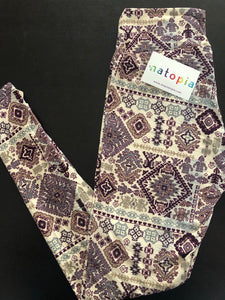 Natopia Super Soft Winter Tapestry Leggings One size Fits 8-14