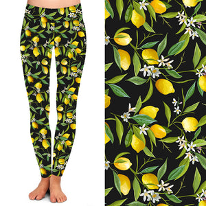 Natopia Deluxe When Life Gives You Lemons Leggings One Size Fits 8-14