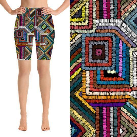 Natopia Deluxe Coloured Maze Shorts One Size Fits 8-14